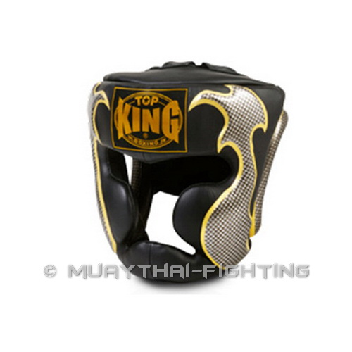 Top-King-Muay-Thai-Boxing-Head-Gear-Guard-Empower-Creativity-TKHGEM-01-Black