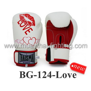 ThaiSmai Boxing Gloves  Velcro Love Valentine BG-124-Love