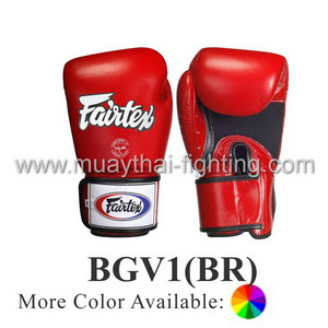 Fairtex Boxing Gloves Tight Fit Breathable BGV1(BR)