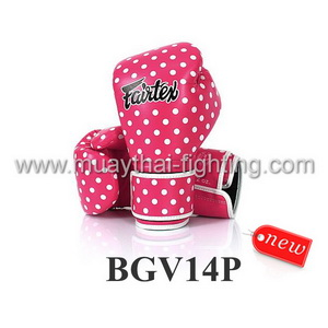 Fairtex Boxing Gloves Micro Fiber Vintage Art Polkadot BGV14P