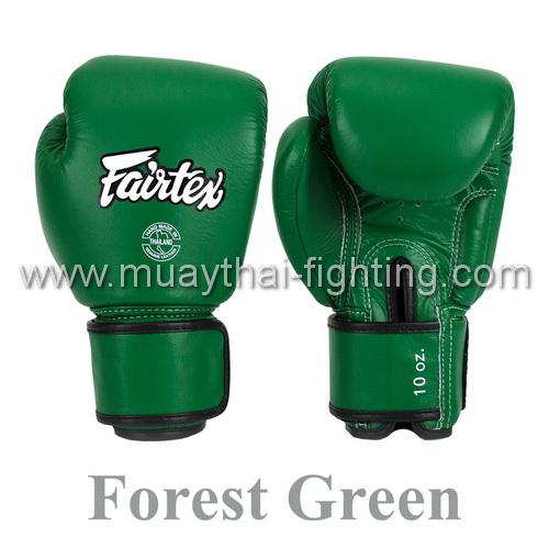 Fairtex Muay Thai Boxing Gloves Forrest Green Leather   BGV16