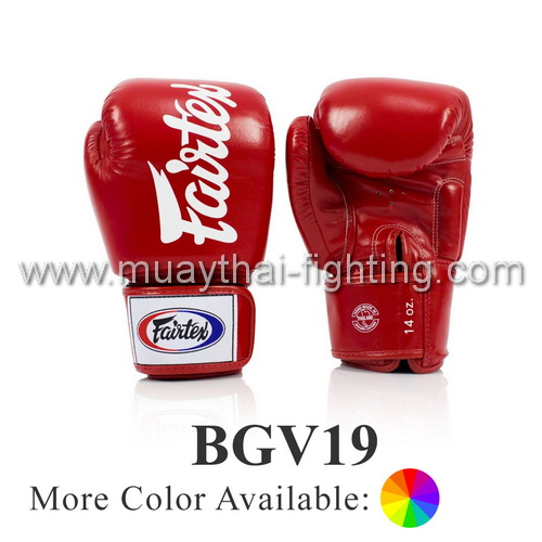"Fairtex Boxing Gloves ""DELUXE TIGHT-FIT GLOVES"" BGV19"