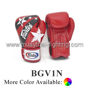 Fairtex Muay Thai Boxing Gloves With Nation Print - BGV1N