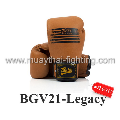 "Fairtex ""Legacy"" Genuine Leather Boxing Gloves BGV21"
