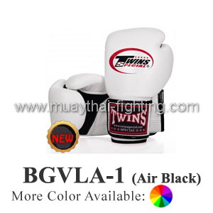 "Twins Special Muay Thai Boxing Gloves ""Air"" BGVLA-1BK"