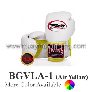 "Twins Special Muay Thai Boxing Gloves ""Air"" BGVLA-1YL"