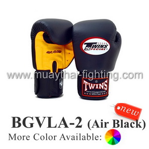 "Twins Special Muay Thai Boxing Gloves ""Air Flow"" BGVLA-2BK"