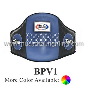 Fairtex Leather Belly Pad Hook & Loop Tape Waist Wrap BPV1