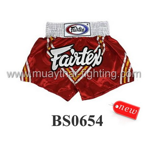 Fairtex Shorts Red V Design BS0654