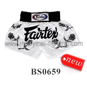 Fairtex Shorts Black Roses BS0659