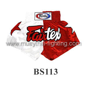Fairtex Shorts Limited Collection Patriot White/Red BS113