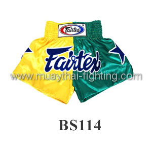 Fairtex Shorts Limited Collection Patriot Yellow/Green BS114