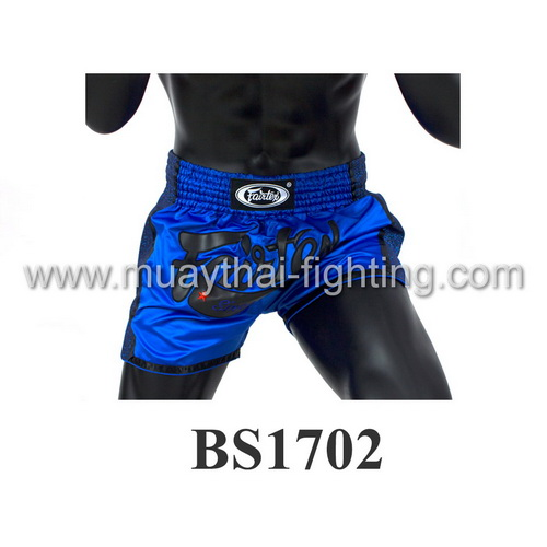 Fairtex Slim Cut Muay Thai Shorts Blue BS1702