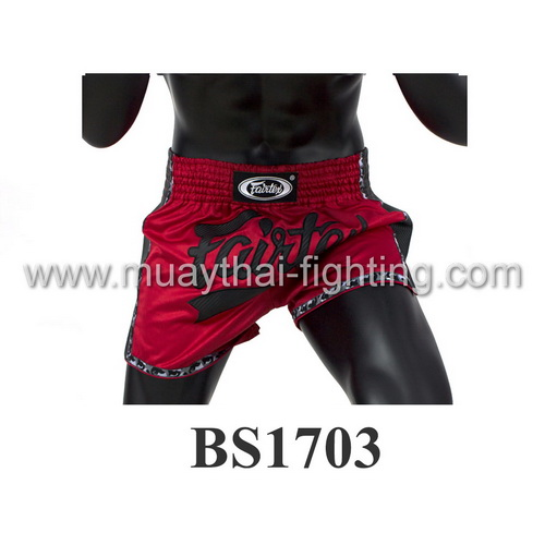 Fairtex Slim Cut Muay Thai Shorts Red/Black BS1703