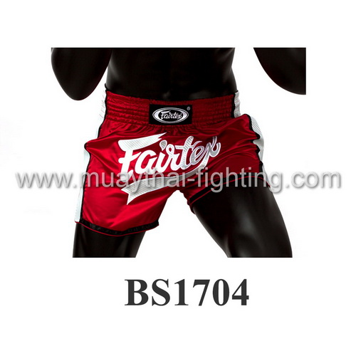 Fairtex Slim Cut Muay Thai Shorts Red/White BS1704