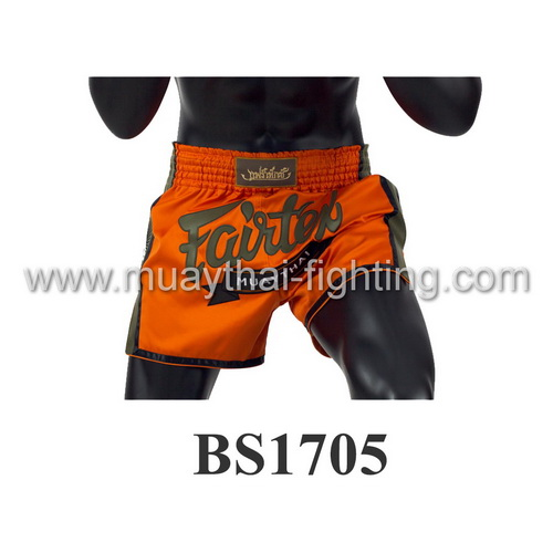 Fairtex Slim Cut Muay Thai Shorts Orange/Green BS1705