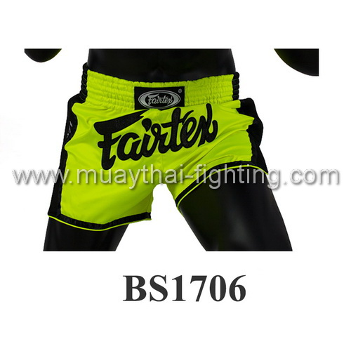 Fairtex Slim Cut Muay Thai Shorts Green (Lime Green) BS1706