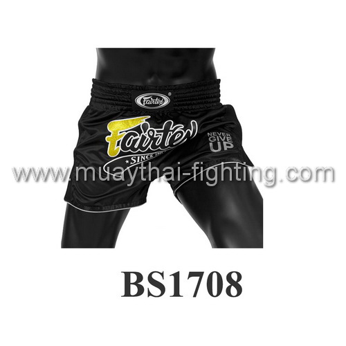 Fairtex Slim Cut Muay Thai Shorts Black BS1708