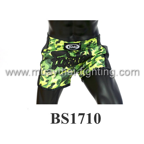 Fairtex Slim Cut Muay Thai Shorts Camo Green BS1710