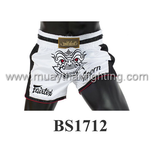 Fairtex Slim Cut Muay Thai Shorts White Vanorn BS1712