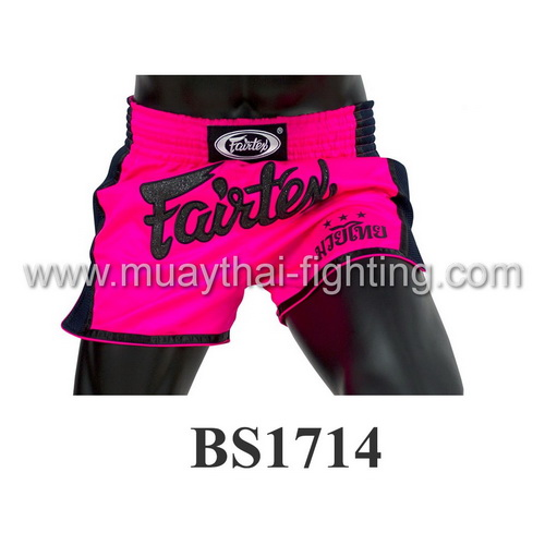 Fairtex Slim Cut Muay Thai Shorts Shocking Pink BS1714