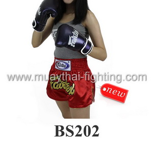 Fairtex Muay Thai Shorts Women Cut Fairtex Logo Red BS202
