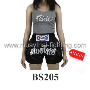 Fairtex Muay Thai Shorts Women Cut Black BS205