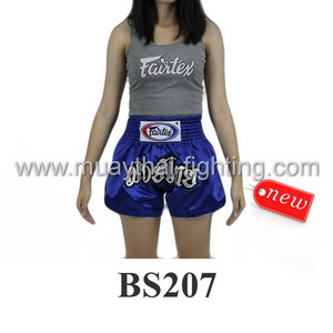 Fairtex Muay Thai Shorts Women Cut Blue BS207