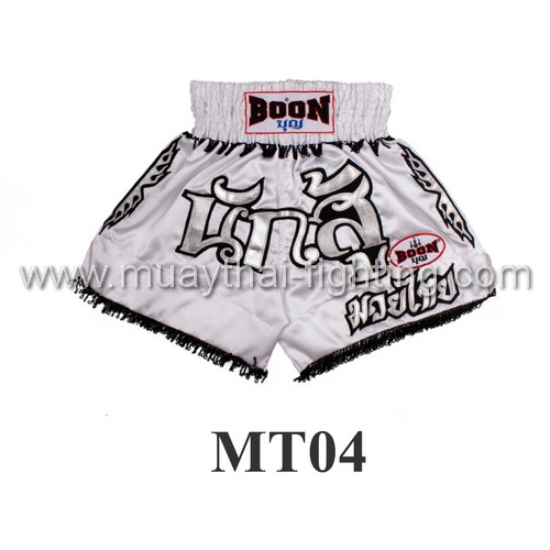 Boon Muay Thai White Warrior Shorts MT04