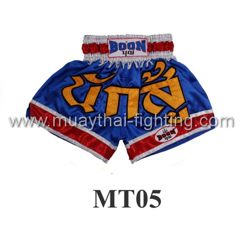 Boon Muay Thai Blue Warrior Shorts MT05