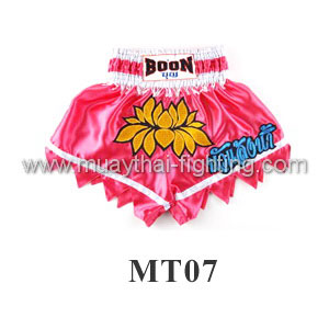 Boon Muay Thai Pink Lotus Shorts MT07