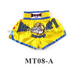 Boon Muay Thai Mad Dog Yellow Shorts MT08-A