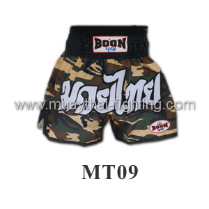 Boon Muay Thai Camo Green Shorts MT09