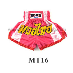 Boon Muay Thai Pink Stripes Shorts MT16