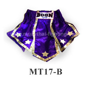 Boon Muay Thai Gladiator Purple Gold Skirt MT17-B