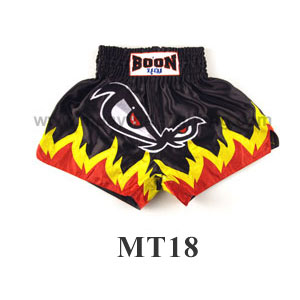 Boon Muay Thai No Fear Flames Shorts MT18