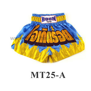 Boon Muay Thai Yellow Flame Shorts MT25-A