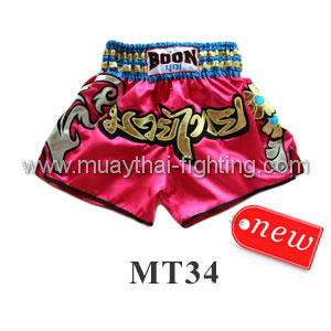 Boon Muay Thai Pink Flowers Shorts MT34