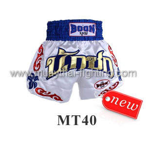 Boon Muay Thai White Shorts MT40