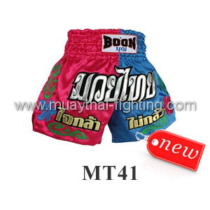 Boon Muay Thai Pink Blue Shorts MT41