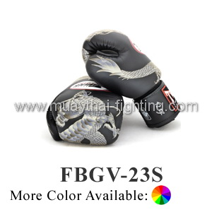 Twins Special Fancy Boxing Gloves Silver Chinese Dragon FBGV-23S