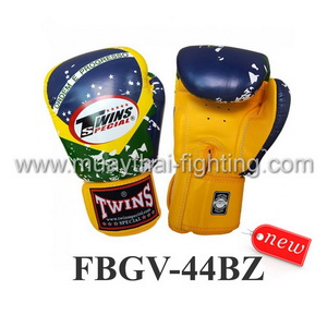 Twins Special Fancy Boxing Gloves Brazil Flag FBGV-44BZ
