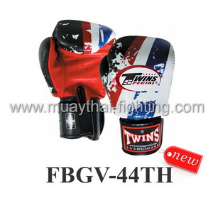 Twins Special Fancy Boxing Gloves Thai Flag FBGV-44TH