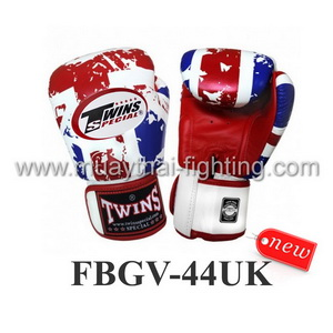 Twins Special Fancy Boxing Gloves United Kingdom Flag FBGV-44UK