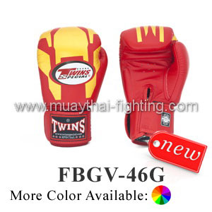 Twins Special Fancy Boxing Gloves Iron Man FBGV-46G