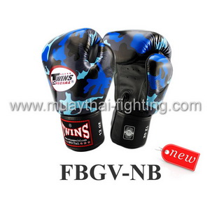 Twins Special Fancy Boxing Gloves Navy Blue FBGV-NB