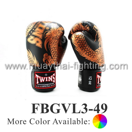 Twins Special Fancy Boxing Gloves Flying Dragon FBGVL3-49