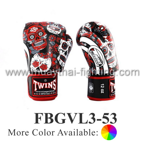 Twins Special Fancy Boxing Gloves Skull FBGVL3-53