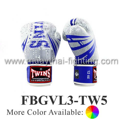 Twins Special Fancy Boxing Gloves Signature Design FBGVL3-TW5