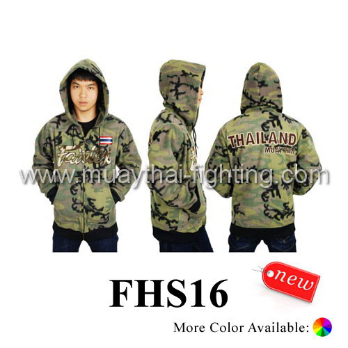 Fairtex New Hooded Camouflage Sweatshirt Thai Flag FHS16
